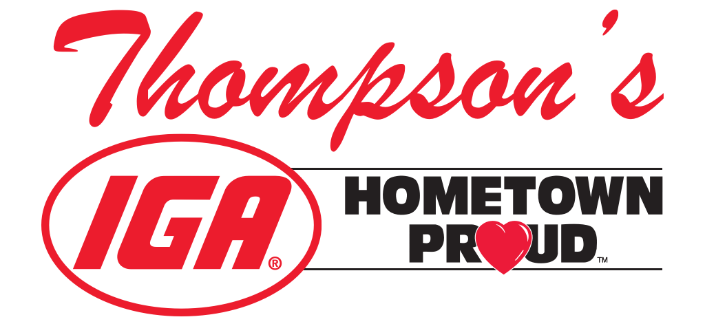 A theme logo of Thompson's IGA